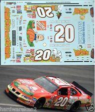 NASCAR DECAL #20 PEANUTS HOME DEPOT 2002 PONTIAC GRAND PRIX TONY STEWART - SLIXX