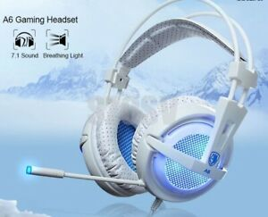 Sades PC Gaming Gamer Headset Headphones Earphones 7.1 Stereo USB LED Microphone
