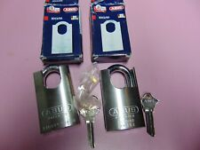 2 NEW ABUS 83CS/50  PADLOCK REKEYABLE  UNPIN  SC1  SCHLAGE     LOCKSMITH