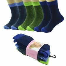 6 Pairs Mens Thermal Winter Warm Soft BED Boots Wool Crew Socks Size (9-11)Cold