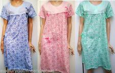 Knee Length Patternless Regular Nightwear for Women