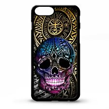 Skull aztec mayan tribal polynesian maori pattern tattoo art phone case cover