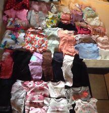 Lot Baby Girls Girl 3 months 40 items pjs pants onsies,dresses, pet smoke free