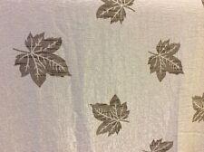 2.20 M x 2.76 M Latte Macchiato Beige Maple Leaf Crinkle Tessuto Jacquard SPEDIZIONE GRATUITA