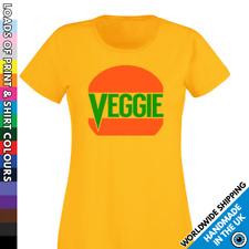 Ladies Veggie Burger Tshirt - Vegetarian Diet - Meat Free Shirt - Activist Top