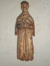 ANCIENNE STATUE RELIGIEUSE BOIS SCULPTE/SAINT FRANCOIS/H.22 cm/XIXème OU AVANT