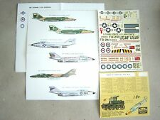 """RF/F-101B/C """"6USAF/TAIWAN/RCAF"""" ESCI DECALS 1/72"""