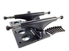 "Owlsome 5.25 Black Aluminum Skateboard Trucks w/ 1/4"" Riser Pad + 1.25 Hardware"