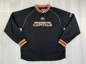 WASHINGTON CAPITALS VINTAGE HOCKEY WINDBREAKER JACKET NHL CCM MEN JERSEY SIZE M