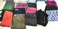 Lot of 20 Mixed Brands Womens M 8-10 Bottoms Shorts Leggings Slacks Pants Skirts