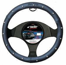 COPRIVOLANTE RED SEAM SIMONI RACING ECOPELLE NERO E BORCHIE CROMATE