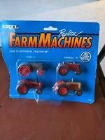 1990 ERTL Replica Farm Machines Case IH Historical Tractor Set  Die Cast 1:64
