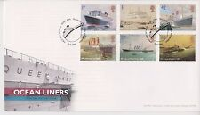 UNADDRESSED TALLENTS PMK GB ROYAL MAIL FDC 2004 OCEAN LINERS STAMP SET
