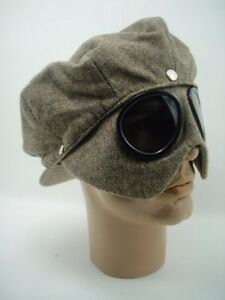 NEW CAP + GOGGLES RIDER Car Motorcycle Aviator Driving Classic Racer - JAY LENO