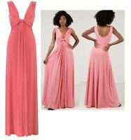 Ladies Womens Grecian Maxi Dresses Full Length Evening Gown Prom Party Size 8-16