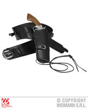 Black Holster Belt Cowboy Wild West Fancy Dress Accessory