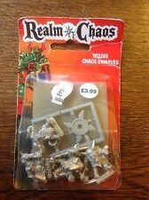 Warhammer. Realm Of Chaos. Chaos Dwarves. Still Sealed. Metal. Oop.