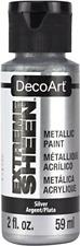 DecoArt 2 Ounce, Silver Extreme Sheen Paint, 2 oz