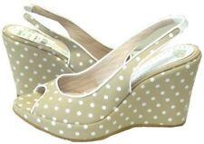 Fornarina Sandals Star Beige Fabric Womens 8 US/39 EU