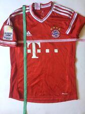 Bayern Munich 13 - 14 Camiseta De Fútbol Jersey lejos Adidas Original Talla L Joven