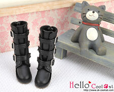 ☆╮Cool Cat╭☆【17-01】Blythe Pullip Doll Shoes Boots # Black