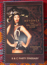 BEYONCE Tour Book/Itinerary Europe 2013