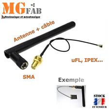 Antenne à gain MT7681 3DBI SMA UFL IPEX | ESP8266 Arduino PIC ARM STM ESP07