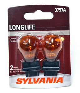 Sylvania LongLife 3757NA 3157 26.9W Two Bulbs Rear Turn Signal Replacement Tail