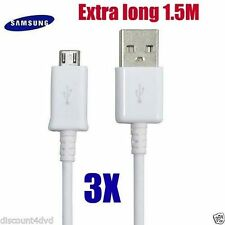 3 X USB lead Charger Data Cable For Samsung Galaxy S2 S3 S4 Mini Note HTC Micro