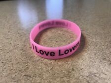 I Love Lovers Rubber Bracelet Wristband #ilovelovers Charity Donate Glow In Dark