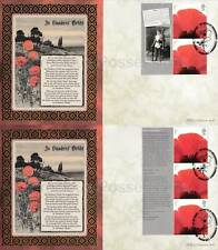 BLCS381 2007 BENHAM FIRST DAY COVERS FDC LEST WE FORGET SMILERS