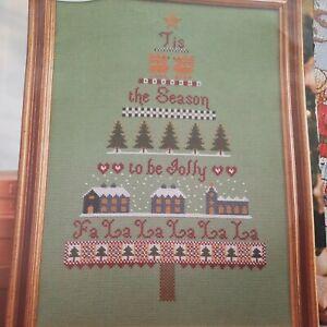 Historical Sampler Christmas Tree Sampler Tis the Season Cross stitch chart