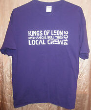 Kings Of Leon Authentic 2014 Mechanical Bull Purple Tour Crew Only Shirt Xl