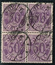 GERMANY 1920 OFFICIAL STAMP DIENST Mi. # 21 INFLATION USED BLOCK OF FOUR
