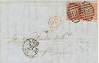 """2427 1862 QV 4d pale red small white letters ('QK') + 1 D Star """"12"""" FB LATE FEE"""