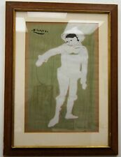 """After Pablo Picasso """"Le Petite Pierrot"""" Lithograph Print Framed 29x21"""" A6430"""