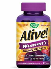 Nature's Way Alive! Women's Gummy Vitamins Orchard Fruits/Garden Veggies (75ct.)