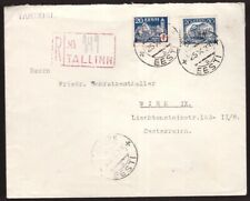 Estonia, 1933  multifranked registered cover to Austria          -DB12