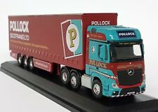 Oxford 1/76 Scale - Mercedes MP4 GSC Actros Curtainside Pollock Model Truck