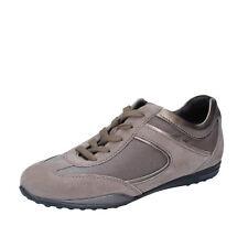 women's shoes TOD'S 5 (EU 35) sneakers beige bronze suede textile AZ570-35