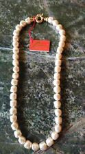 Vintage Maperla Pearl Necklace with Gold Clasp -  New with Tags from Maperla