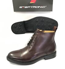 Steptronic Leather Lace Up Zip Mens Ankle Boots Shoes MA434 UK 8 EUR 42