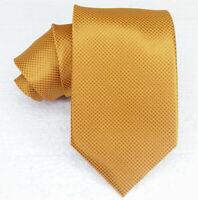 NEU herren Krawatte 100% seide Bronze Gold ITALIEN Klassisch 8,2 cm UVP€ 38