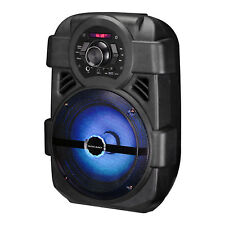 Portable Party USB Bluetooth Speaker FM Control Loud Bass Sound Rechargeable Mic