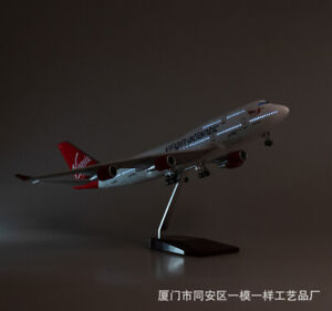 1/150 Virgin Atlantic Airways B747-400 Voice Light  Passanger Plane Display Toy