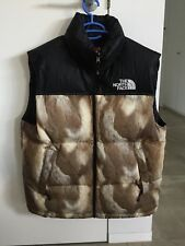 Supreme X The North Face Down Vest M Black Red Jacket Nupste Medium Fur Brown