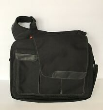 Diaper Dude DD Diaper Bag Black Flap Messenger II Baby Toddler Bag Changing Pad