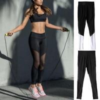 Women Skinny Yoga Leggings Running Stretch Sports High Waist Pants Trousers
