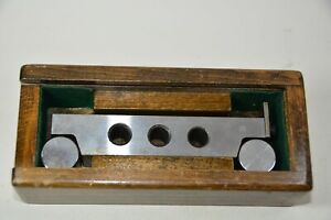 """Vintage Engineers Sine Bar Good Boxed Accurate Angle Inspection Imperial 5"""""""