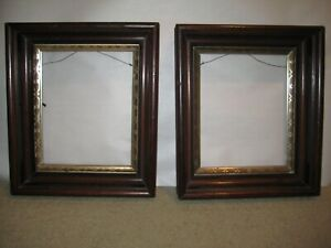 Antique pair of Victorian picture frames 8 x 10 image space  gold liner 12 x 14